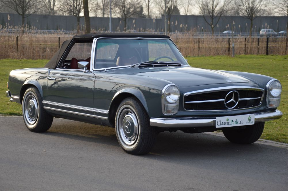 classic park cars mercedes benz 280 sl automatic. Black Bedroom Furniture Sets. Home Design Ideas